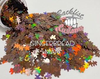 GINGERBREAD MAN || Gingerbread man  Shaped Glitter, Solvent Resistant