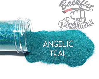ANGELIC TEAL || Holographic Micro Fine Glitter, Solvent Resistant
