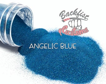 ANGELIC BLUE || Holographic Micro Fine Glitter, Solvent Resistant