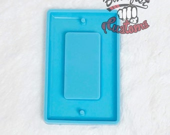 RECTANGLE LIGHT SWITCH Cover 3in x 4.75in Mold || 1 Silicone mold