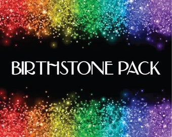 BIRTHSTONE GLITTER PACKAGE || 12oz total || There is a glitter to math each month