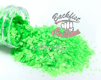 E. KIWI ICE    Neon, Matte Fine Glitter