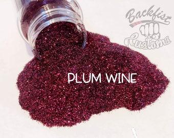 PLUM WINE  || Opaque Fine Glitter, Solvent Resistant