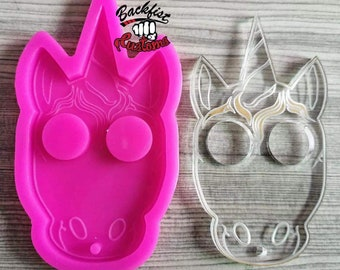 DEFENSE UNICORN KNUCKLE 2.5IN X 3.5IN  Mold  || Silicone mold for novelty and decorative purposes only