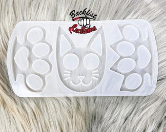 DEFENSE PALETTE mold 2 knuckles and 1 cat mold || each mold 2.5in x 4in