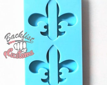Halves || FLEUR DE LIS Straw Topper || Silicone mold