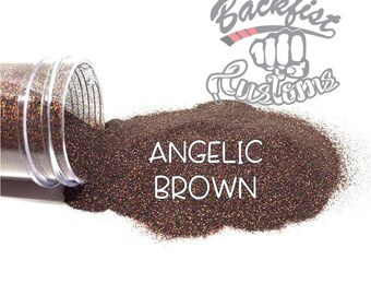 ANGELIC BROWN || Holographic Micro Fine Glitter, Solvent Resistant