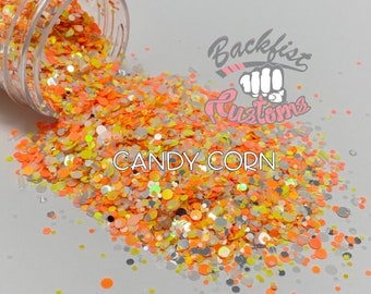 CANDY CORN DOTS || Candy Corn Mixed Color Dot  Glitter