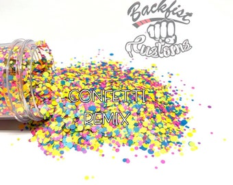 CONFETTI REMIX || Multi Shaped Neon Glitter confetti