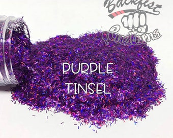 PURPLE TINSEL || Tinsel Glitter, Solvent Resistant