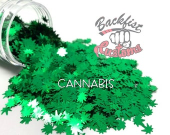 CANNABIS  || BFC Exclusive Marijuana Shaped Glitter