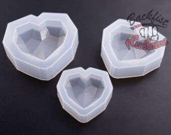 3 pack SILICONE HEART MOLDS || Set of 3