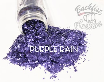 PURPLE RAIN || Opaque Chunky Glitter, Solvent Resistant