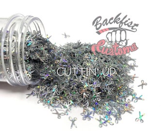 CUTTIN UP || SCISSOR Shaped Glitter, Solvent Resistant