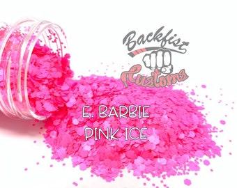 BARBIE PINK ICE    Neon, Matte Fine Glitter