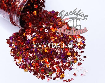 XXXtra Hot 2oz  || Mixed Glitter of different colors and sizes