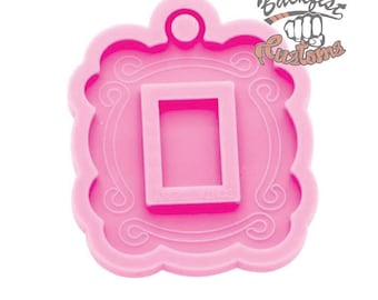 PICTURE FRAME mold With KEYCHAIN Hole || 1 Silicone mold