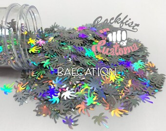 BAECATION || PALM TREE Shaped Glitter, Solvent Resistant