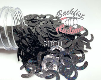 PITCH || HORSE SHOE Shaped Glitter, Solvent Resistant
