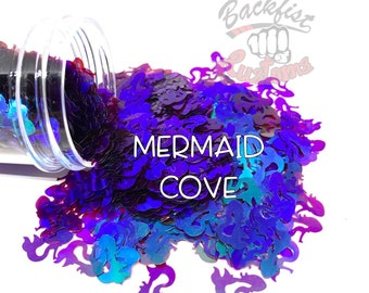 MERMAID COVE  || Mermaid shaped  Glitter