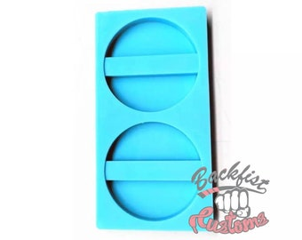 Halves || CIRCLE STRAW Topper || Silicone mold