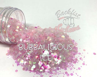 BUBBALICIOUS ICE  || Solvent Resistant, Chunky Mix Holographic Glitter