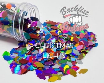 CHRISTMAS LIGHTS || Christmas Light bulb  Shaped Glitter