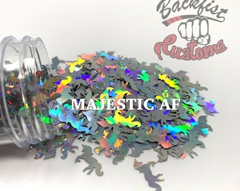 MAJESTIC AF || Unicorn Shaped Chunky Glitter, Solvent Resistant