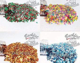 MOUSE PACK || 4oz Total || Multiple Mouse Shaped Glitter