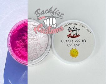 UV Pigment COLORLESS to PINK || 10g jar