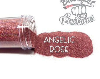 ANGELIC ROSE || Holographic Micro Fine Glitter, Solvent Resistant