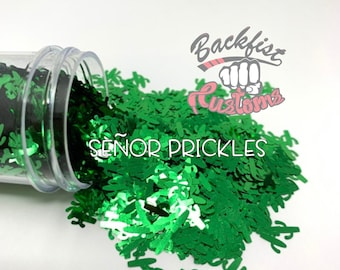 SENOR PRICKLES || CACTUS Shaped Glitter, Solvent Resistant