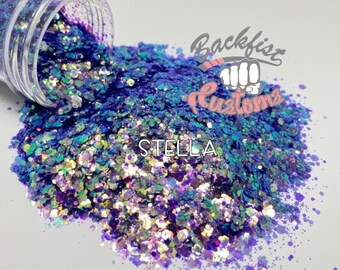 STELLA || Purple color shifting Glitter