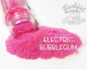 ELECTRIC BUBBLEGUM    Neon, Transparent Fine Glitter, Solvent Resistant