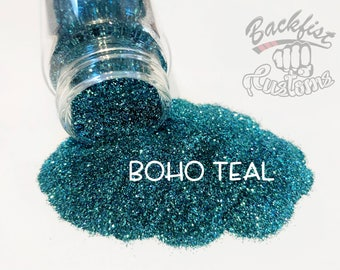 BOHO TEAL || Opaque Fine Glitter, Solvent Resistant