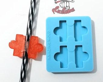 Halves     PUZZLE Straw Topper    Silicone mold