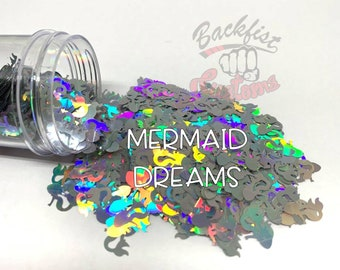 MERMAID DREAMS  || Mermaid shaped  Glitter