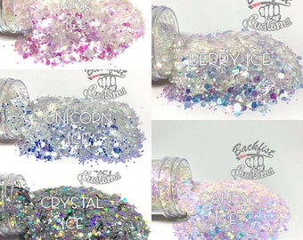 Chunky ICE Glitter Package  5oz total