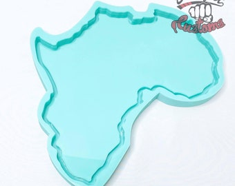 CUSTOM LARGE AFRICA Tray 11in x 10in || Made to Order