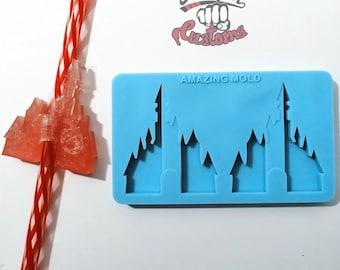 Halves    MAGIC CASTLE Straw Topper    Silicone mold