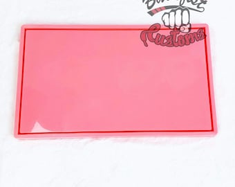 LARGE PINK ROLLING Tray mold 12.25in x 7.25in || 1 Silicone mold