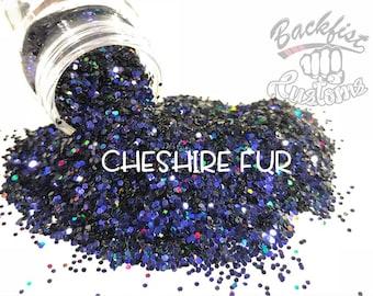 CHESHIRE FUR ( Purple/Black )  || Solvent Resistant, Chameleon Glitter