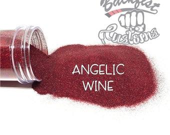 ANGELIC WINE || Holographic Micro Fine Glitter, Solvent Resistant