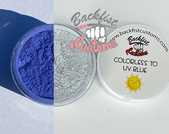 UV Pigment COLORLESS to BLUE || 10g jar