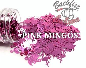 PINK MINGOS || Flamingo Shaped Glitter