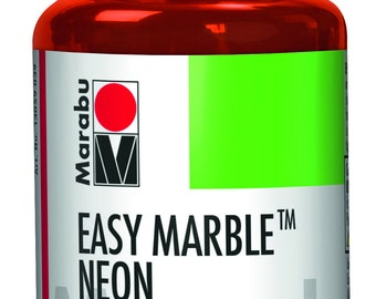 324 Neon Orange || MARABU Easy MARBLE PAINT