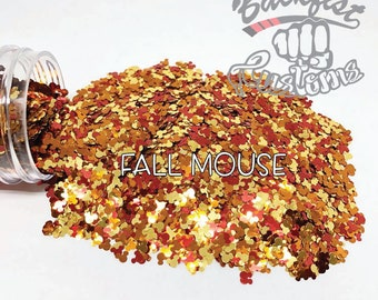 FALL MOUSE || Shaped Glitter