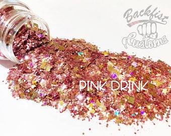 PINK DRINK || Opaque Chunky Glitter Mix, Solvent Resistant