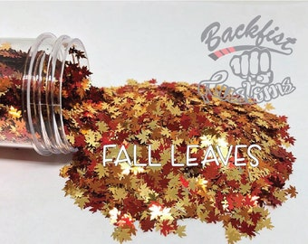 FALL LEAVES ||  Leaf Shaped Glitter