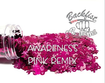 AWARENESS PINK REMIX ||  Exclusive Ribbon Shaped Glitter